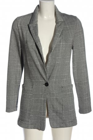 H&M Jerseyblazer hellgrau Karomuster Business-Look