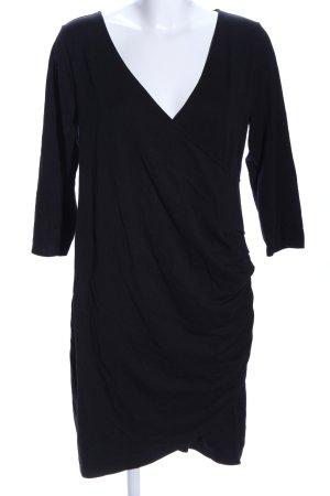 H&M Vestido de tela de jersey negro elegante