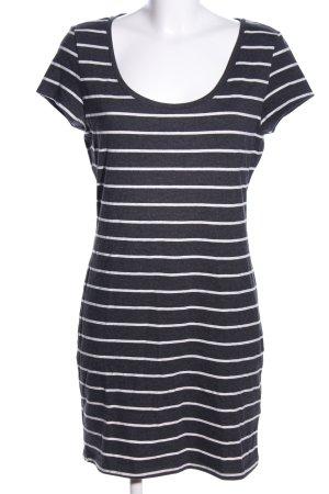 H&M Jersey Dress black-white striped pattern casual look