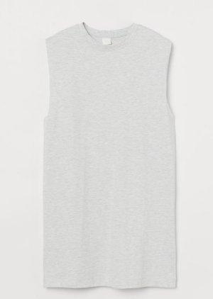 H&M T-shirt jurk lichtgrijs