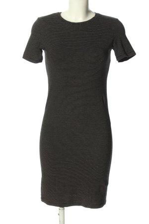 H&M Jerseykleid schwarz-weiß Allover-Druck Casual-Look
