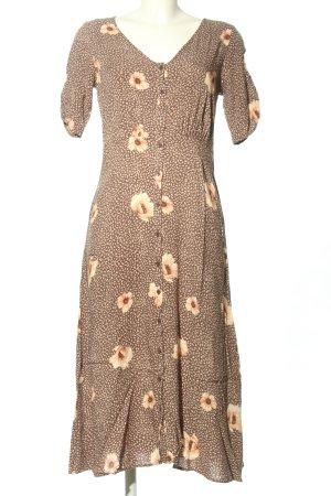 H&M Jerseykleid braun Allover-Druck Casual-Look