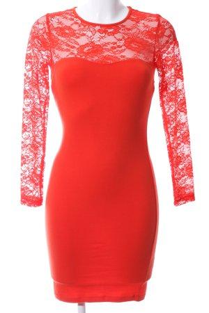 H&M Jerseyjurk rood bloemenprint elegant