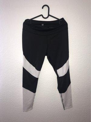 H&M Pantalone da ginnastica bianco-nero