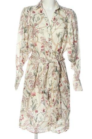 H&M Johanna Ortiz Robe chemise blanc motif de fleur élégant