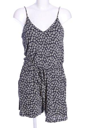 H&M Jumpsuit schwarz-wollweiß Allover-Druck Casual-Look