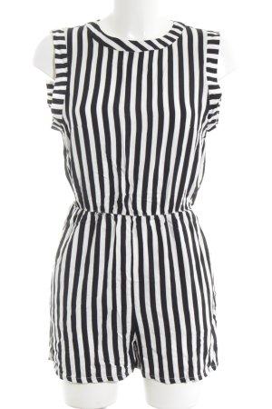 H&M Tuta nero-bianco stampa integrale stile casual