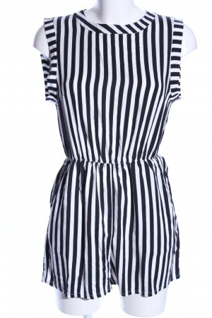 H&M Jumpsuit weiß-schwarz Streifenmuster Casual-Look
