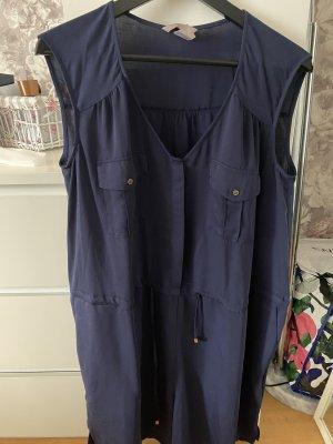H&M Salopette courte bleu foncé