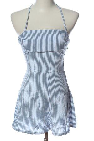 H&M Jumpsuit weiß-blau Streifenmuster Casual-Look