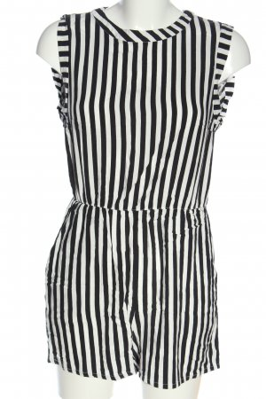 H&M Jumpsuit schwarz-weiß Streifenmuster Casual-Look