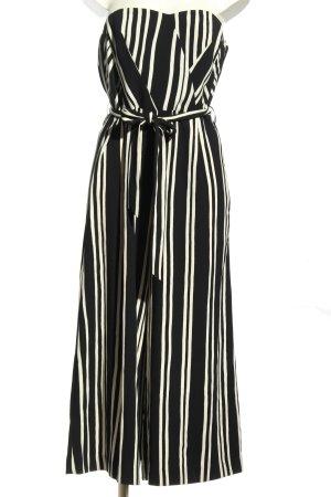 H&M Kombinezon czarny-biały Wzór w paski Elegancki