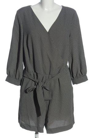 H&M Jumpsuit schwarz-weiß Allover-Druck Elegant