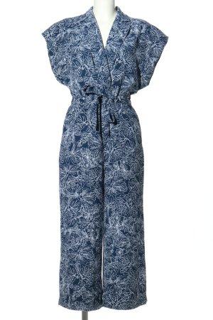 H&M Mono azul-blanco estampado con diseño abstracto look casual