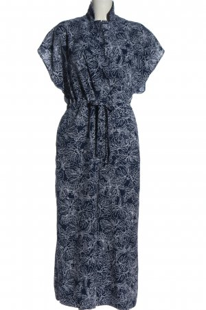 H&M Jumpsuit blau-weiß Allover-Druck Casual-Look