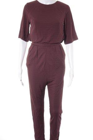 H&M Jumpsuit bordeauxrot Elegant