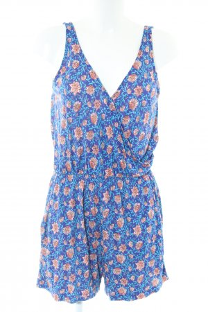 H&M Jumpsuit blau-braun Allover-Druck Casual-Look