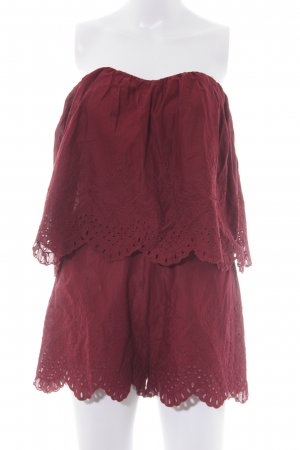 H&M Jumpsuit dunkelrot Boho-Look