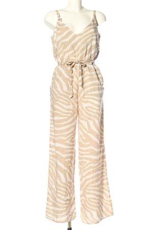H&M Mono nude-blanco estampado repetido sobre toda la superficie look casual