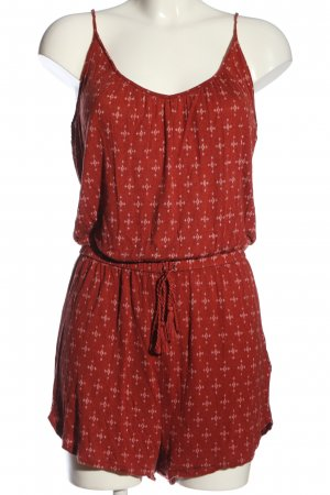 H&M Jumpsuit rot-creme Allover-Druck Casual-Look