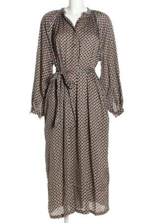 H&M Kaftan brązowy-kremowy Abstrakcyjny wzór W stylu casual