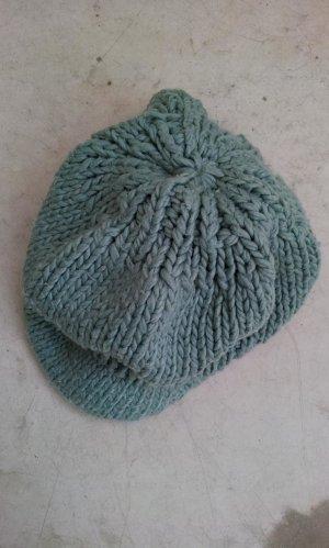 H&M Cappello con visiera menta-turchese Tessuto misto