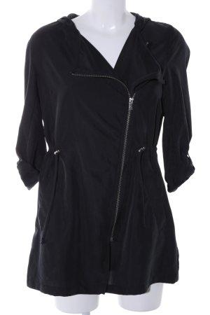 H&M Kurtka z kapturem czarny W stylu casual