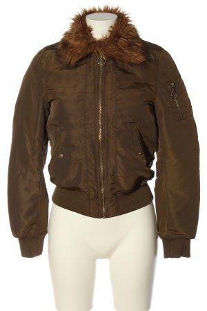H&M Chaqueta de aviador color bronce look casual
