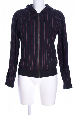 H&M Kapuzenjacke blau-pink Streifenmuster Casual-Look