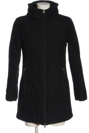 H&M Kurtka z kapturem czarny Wzór w paski W stylu casual