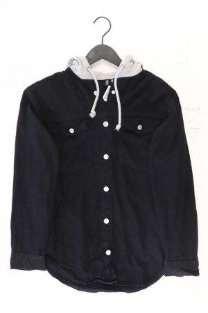 H&M Chaqueta con capucha negro Algodón