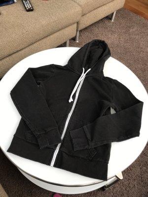 H&M Kurtka z kapturem biały-czarny