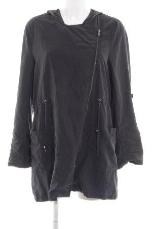 H&M Kurtka z kapturem czarny Na całej powierzchni W stylu casual