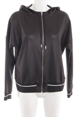 H&M Kurtka z kapturem czarny-biały W stylu casual
