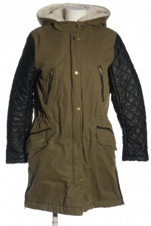 H&M Hooded Coat bronze-colored-black quilting pattern casual look