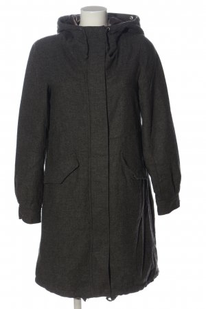 H&M Hooded Coat black flecked casual look