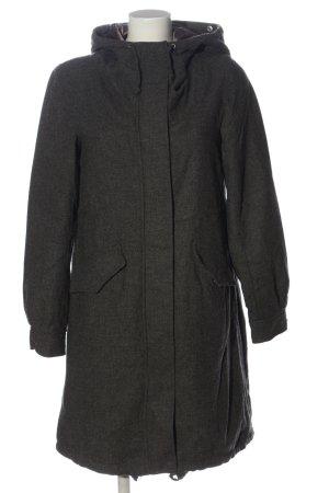 H&M Cappotto con cappuccio nero puntinato stile casual