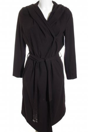 H&M Kapuzenmantel schwarz schlichter Stil