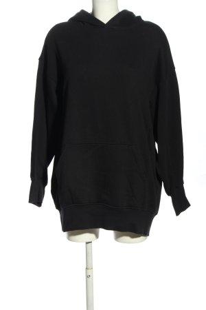 H&M Pull à capuche noir style décontracté