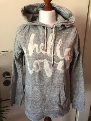 H&M Kapuzenpullover Hello Love Grau