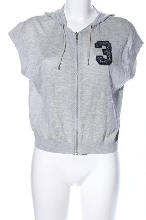H&M Top à capuche gris clair moucheté style décontracté