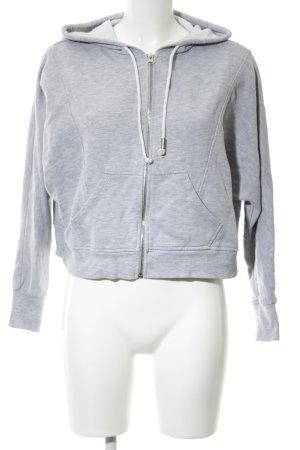 H&M Kapuzensweatshirt hellgrau meliert Casual-Look