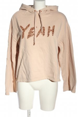 H&M Sweat à capuche crème lettrage imprimé style décontracté
