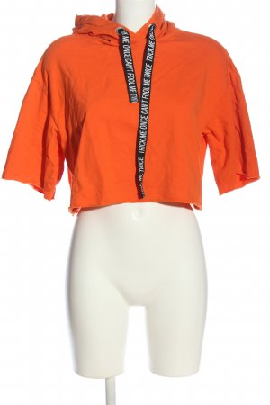 H&M Kapuzensweatshirt hellorange Casual-Look
