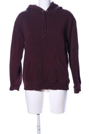 H&M Kapuzensweatshirt braun schlichter Stil