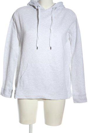 H&M Kapuzensweatshirt weiß meliert Casual-Look
