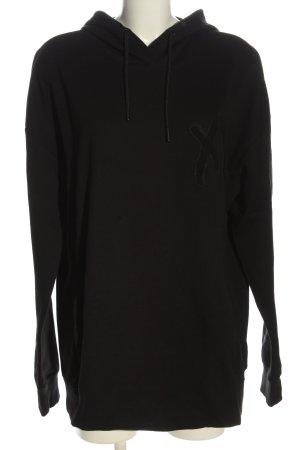 H&M Bluza z kapturem czarny Wydrukowane logo W stylu casual