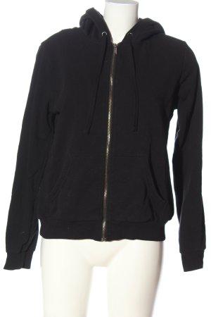H&M Sweat à capuche noir style décontracté