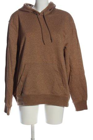 H&M Kapuzensweatshirt braun meliert Casual-Look