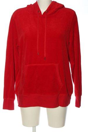 H&M Sudadera con capucha rojo look casual